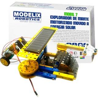Explorador de Marte, Carro Robô Motor Energia Solar, Kit Robótica Metálico Montagem STEM