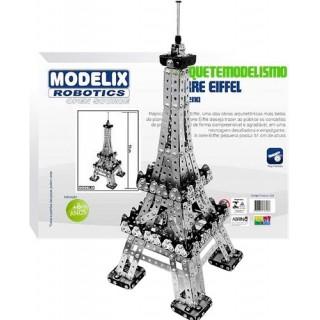 Torre Eiffel Replica, Pequena Maquete, 1095 peças, Kit arquitetura Metálico montar c/ parafusos