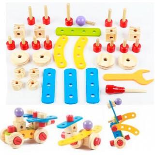 Montagem Porcas Parafusos 34 peças, Robôs, Carros, Estruturas. Kit Robótica Kids 3 anos +