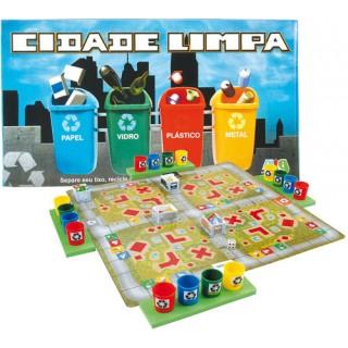Coleta Lixo Jogo Tabuleiro Educativo, Cuidado c/ Meio Ambiente, 2 a 4 jogadores, 6+
