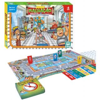 Jogo Tabuleiro Malhação, Brinquedo forma ideal p/ 2 a 4 crianças jogar, Competição, 8+