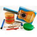 Ciência da música, Kit Educativo Montagem instrumento de corda, percussão, sopros 4+