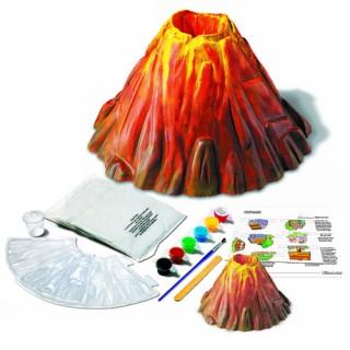Vulcão com lava borbulhante de Vinagre e Sal, Brinquedo, Kit Educacional Experiência