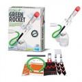 Kit Ciência Verde Lança Foguete, Brinquedo Sustentável, Recicle uma garrafa, Green Rocket