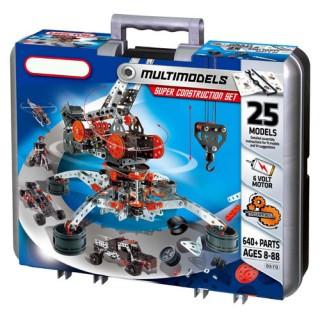 Super Kit Robótica Montagem Mecânica, 25 Modelos Motorizados, 640 + Peças
