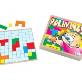 Poliminós, 34 peças, Jogo da memoria, brinquedos educativos, inclusão, Mdf, 5+