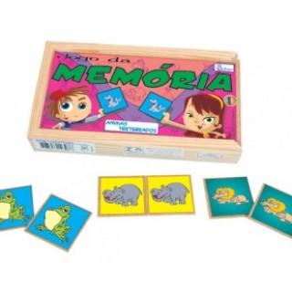 Animais vertebrados, 40 peças, Jogo da memoria, brinquedos educativos, Mdf, 6+