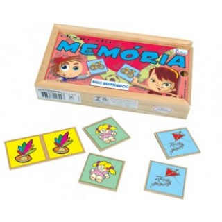Meus Brinquedos, 40 peças, Jogo da memoria, Mdf, 6+