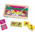 Plural, 40 peças, Jogo da memoria, brinquedos educativos, Mdf, 6+