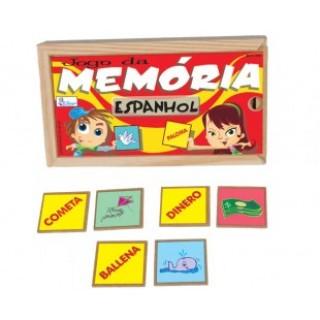 Espanhol, 40 peças, Jogo da memoria, Mdf, 6+
