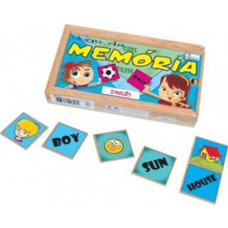 Inglês, 40 peças, Jogo da Memória, Mdf, 6+