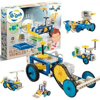 Máquinas e Veículos, Energia Mecânica e Elétrica 122 pçs 11 modelos, Robótica Dínamo STEM