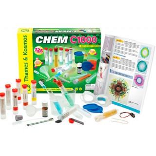 Química Kit CHEM C1000 Thames & Kosmos 125 experimentos, 10 a 15 anos