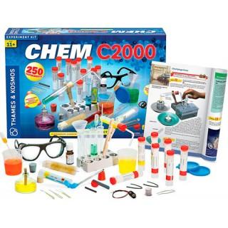 Química Kit CHEM C2000 Thames & Kosmos 250 experimentos, 11 a 15 anos