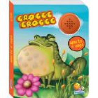 Aperte e ouça croccc croccc, estimulo sensorial, estimulo visual, desenvolve a leitura, interativo, 3+