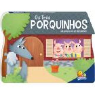 Um livro pop-up de contos: Os três porquinhos, habilidades de leitura, estímulo visual, desenvolve a imaginação, +3