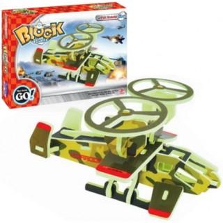 Avião do exército, 30 peças, Quebra-cabeça 3D em EVA, Brinquedo Educativo 3+